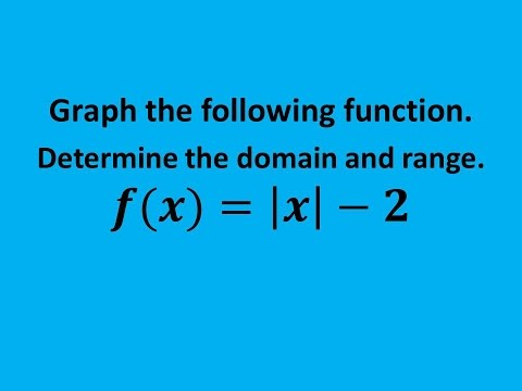 MAT 1010 Final Review #10: Graph an Absolute Value Function and Find the Domain and Range.
