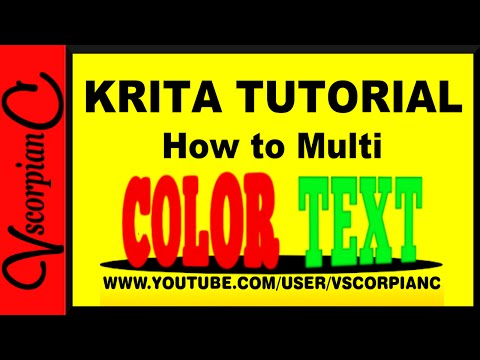 Krita Tutorial - How to Color Text or Make Multi Color Letters by VscorpianC