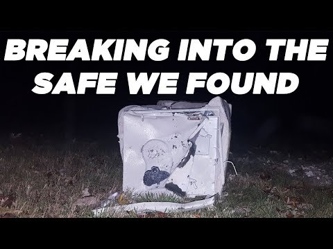 BREAKING INTO THE SAFE WE FOUND! BREAKING INTO A SENTRY SAFE! GET INTO A SENTRY SAFE WITHOUT A KEY