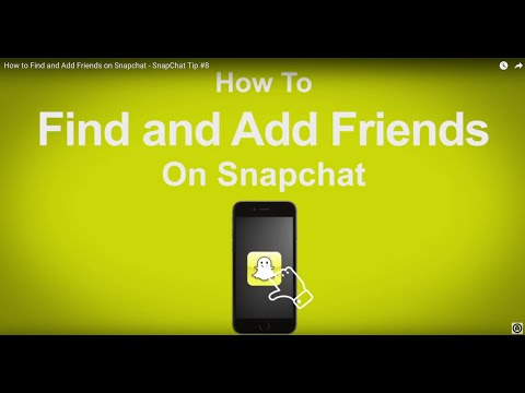 How to Find and Add Friends on Snapchat  - SnapChat Tip #8