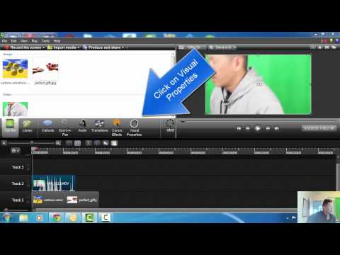 How to Add Background Pictures Using Camtasia