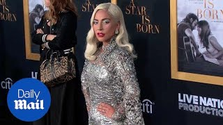 Lady Gaga twinkles in silver dress at