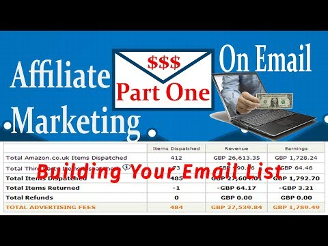 Affiliate Marketing on Email List (part 01) Step By step Video Tutorial course