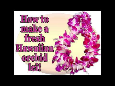 Easy Orchid Lei Making Tutorial to Create Leis for a  Luau or Hawaii Theme Wedding