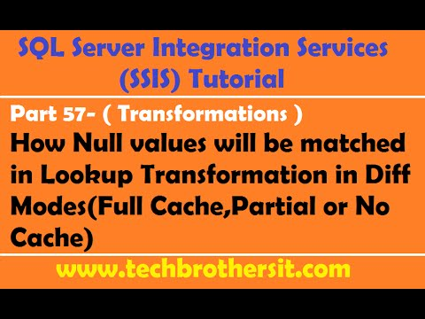 SSIS Tutorial Part 57- How Null values  match in Lookup Transformation