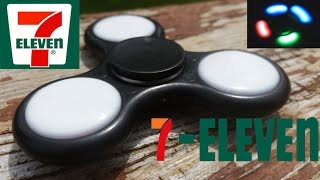 7-Eleven LED Fidget Spinner unboxing, review, and giveaway.  LED Fidget spinner review.