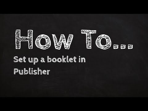 How to set up a booklet in publisher