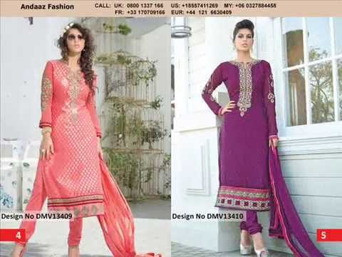 #Party wear #churidar suits online - Andaaz Fashion