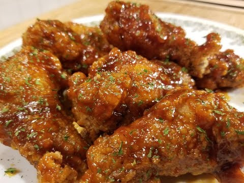 Spicy Honey BBQ Wings!