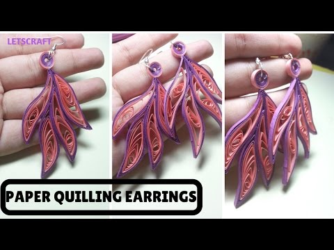 How to make Paper Earrings| Quilling Tutorial | Paper Quilling Earrings | Leaf shaped