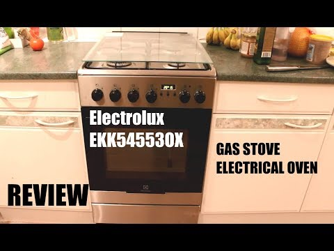 Electrolux EKK54553OX gas stove with electrical oven REVIEW