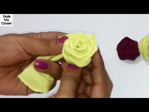 3d Fabric Rose Flower | How to make Fabric Flower | Fabric Rose