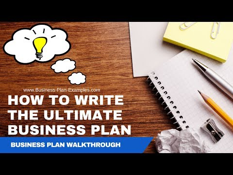 How To Write A Business Plan | Best Business Plan Example Walkthrough!
