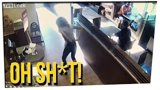 WS - Woman Goes Nuts at Tim Horton