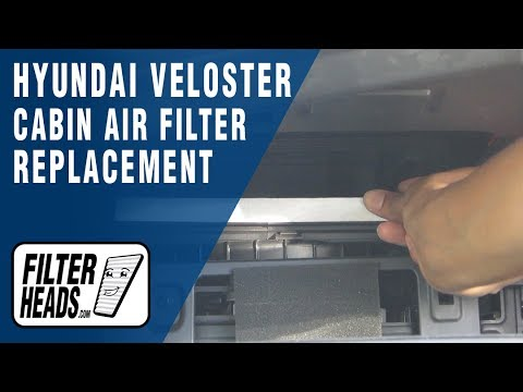 How to Replace Cabin Air Filter 2012 Hyundai Veloster