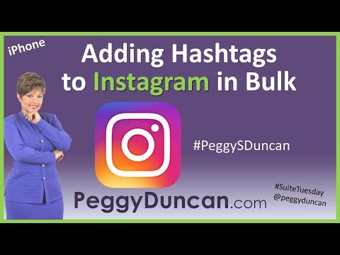 A Quick Way to Add Multiple Hashtags - Instagram - iOS iPhone Replacement Text