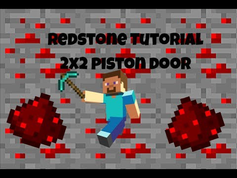 Minecraft: HOW TO BUILD A 2x2 PISTON DOOR | ALL VERSIONS | Redstone Tutorials #4