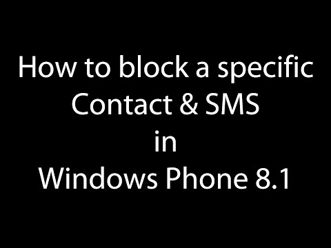 How to block anonymous caller or sms sender in Lumia phone | Windows Phone 8.1 ?