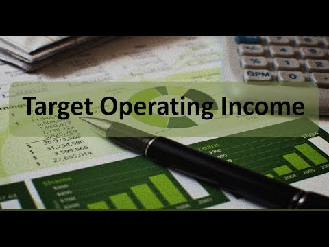 Managerial Accounting: Target Operating Income