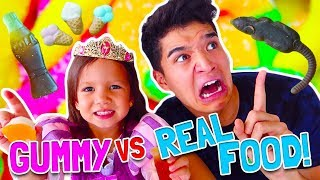 GUMMY vs. REAL FOOD! ft Princess Gorgeous