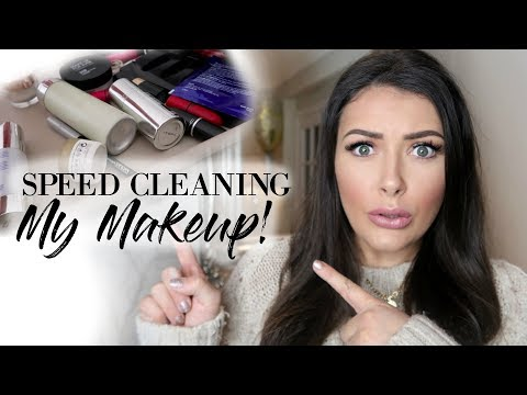 SPEED CLEANING & ORGANISING MY MAKE UP COLLECTION | HUGE CLEAR OUT