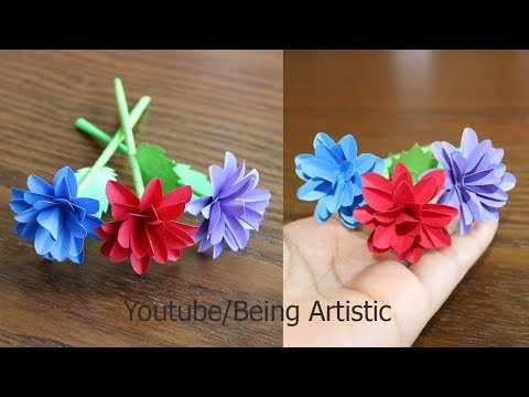 How To Make Small Paper Flower -  DIY Handmade Craft - Paper Craft