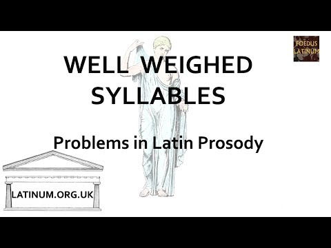 Problems in Latin Prosody - looking at Attridge's 'Well Weighed Syllables'