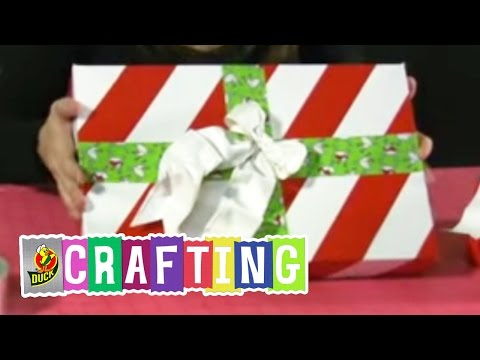 How to Craft a Duct Tape Christmas Gift Box