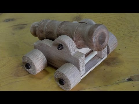 Wooden Cannon on the lathe