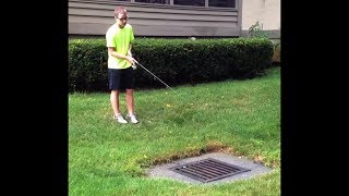 kid tries to catch fish in sewer, then this happens...