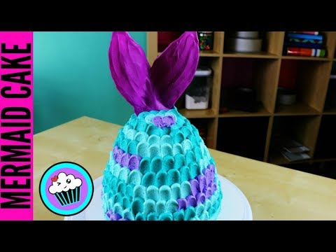 EASY Mermaid Tail Cake | Pinch of Luck