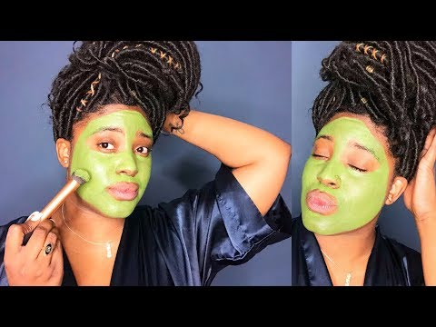 Matcha Green Tea Face Mask for Healthy Skin + Reduce Acne + Erase Blemishes