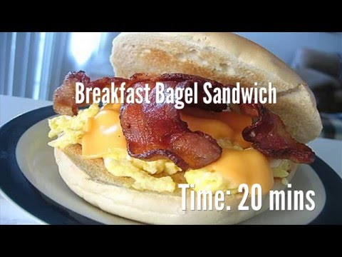 Breakfast Bagel Sandwich Recipe