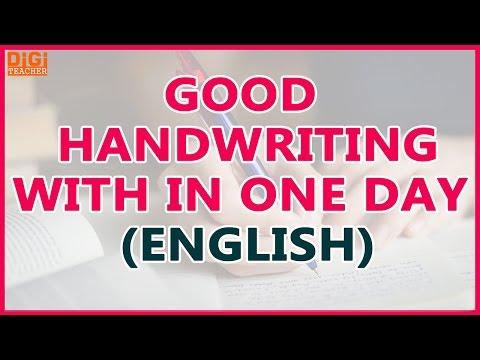 Good Handwriting With in One Day    Easy Ways to Improve Handwriting (English)    Digi Teacher