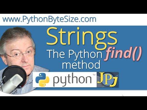 The Python find() String method
