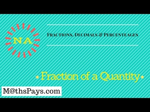 Fraction of a quantity