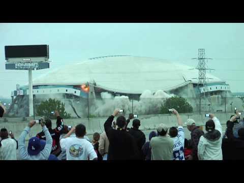 Dallas Cowboys Stadium Demolition HD