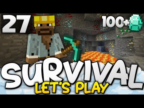 100+ DIAMOND HAUL!!! - Survival Let's Play Ep. 27 - Minecraft Bedrock (PE W10 XB1)