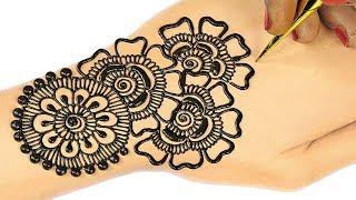 Latest Arabic Mehndi Design For Hands for Beginners | Mehndi Designs for Hands for Navratri #76