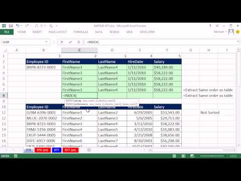 Excel Magic Trick 976: Excel Two Way Lookup - 11 Examples (2 Way Lookup)