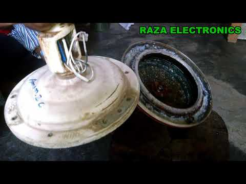 How to open ceiling fan for rewinding and repairing details in urdu hindi