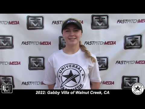 2022 Gabby Villa Third Base and Second Base Softball Skills Video - Universal Fastpitch