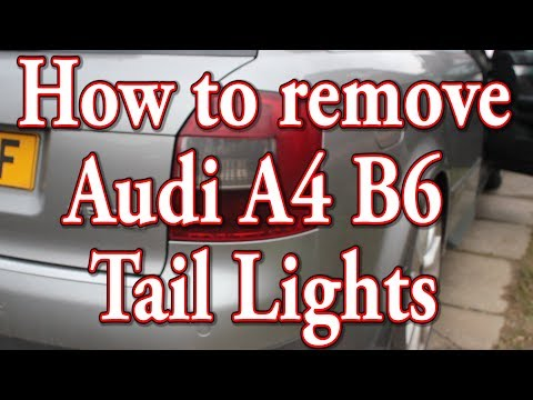 How to remove replace A4 B6 Tail Lights