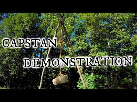 Capstan  and tackle block demonstration