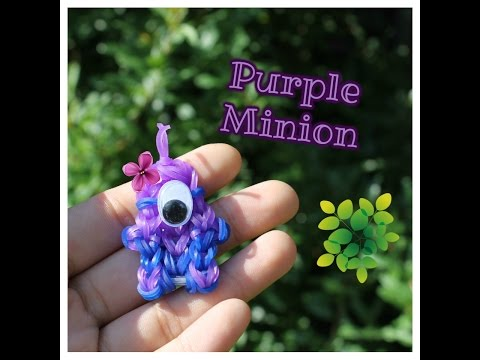• New PURPLE MINION from Despicable Me 2 Charm • | Rainbow Loom, etc. Tutorial | Crafts by Creme