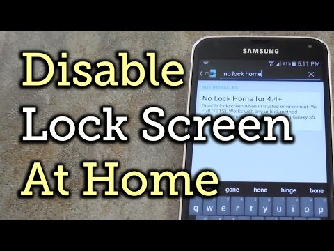 Skip the Secure Lock Screen in Trusted Environments - Android KitKat - Samsung Galaxy S5 [How-To]