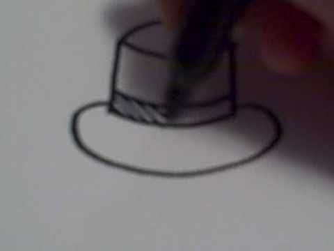How to Draw a Cartoon Top Hat