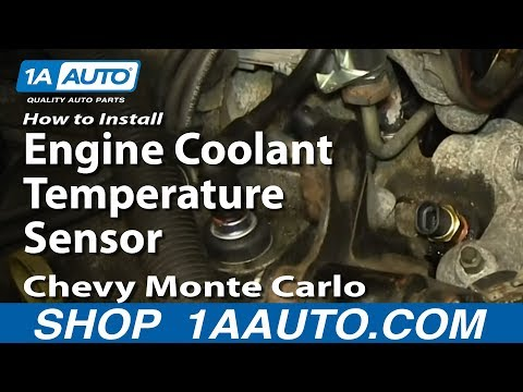How To Install Replace Engine Coolant Temperature Sensor 3.4L 2000-08 Chevy Monte Carlo