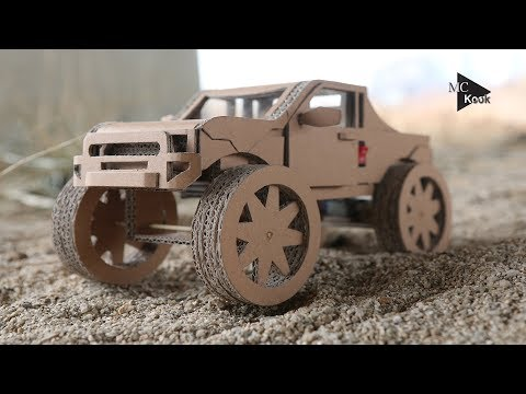 How to Make Amazing  Monster Truck(Off Road car) from Cardboard