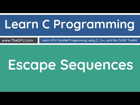 Learn C Programming - Escape Sequences